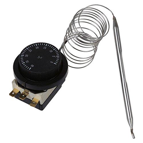 REFURBISHHOUSE 1NC 1NO AC 250V/380V 16A 0-40C Termostato capilar interruptor de control de temperatura