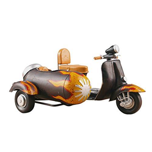 BESPORTBLE Modelo de Motocicleta de Hierro Adorno de Mesa de Moto Vintage Iron Art Motor Figurine Centro de Mesa Antiguo Vehículo Vintage Decoración para El Hogar Escritorio Oficina Proyecto