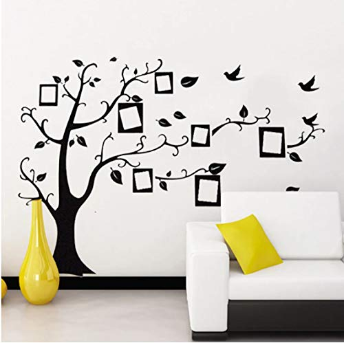 Black 3D DIY Photo Tree PVC Decals Family Wall Stickers Background Decoration Mural Art Home Decor 70 * 120Cm
