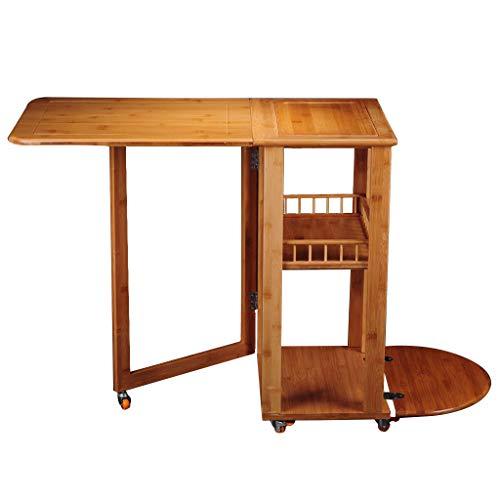 Tables basses Salon Tables Armoire à thé Mobile Chariot à thé en Bambou Table à thé à roulettes Armoire à thé Kung Fu Ensemble à thé Table à thé Locker