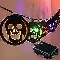 Lukskiss Wooden Halloween String Lights
