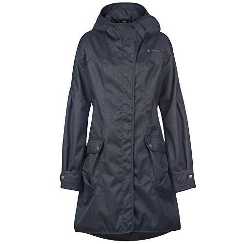 Finside Asta Plus graphit melange Damen Zip In Outdoor Parka