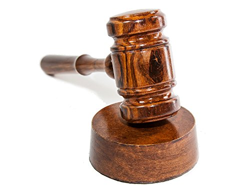 Gavel and Sound Round Block Set Handcrafted Walnut Wood Perfect for Judge, Lawyer, Student, Auction Court, and Gifts (Made in USA)