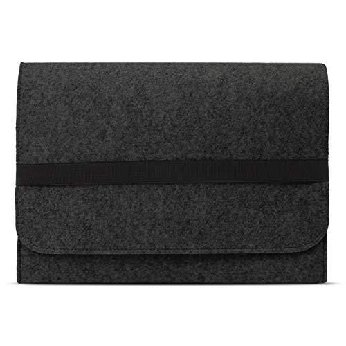 eFabrik ROYALZ Tasche für Lenovo IdeaPad 320S / IdeaPad 330s Schutztasche aus Filz Filztasche Hülle Sleeve Soft Cover Schutzhülle Sleeve, Farbe:Dunkelgrau