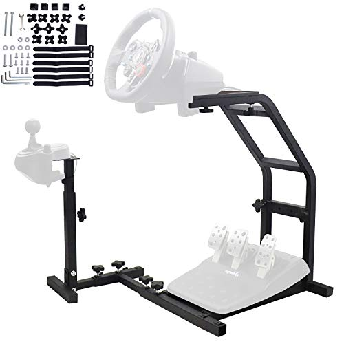 Racing Steering Wheel Stand, Height Adjustable Pro Driving Simulator Cockpit Compatible with Logitech G25,G27,G29,G920