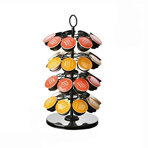 Porta capsule per caffè Dolce Gusto - Contiene 36 capsule K-Cup Finitura cromata elegante e moderna originale. Rotazione a 360 gradi. Per macchine Citiz, Nespresso Pixie e Latissima (Dolce Gusto-36)