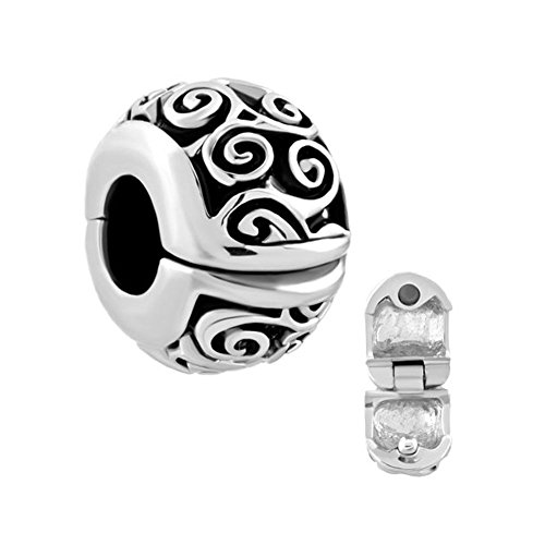 LuckyJewelry Clip Lock Stopper Spacers Beads Charms for Bracelets (Irish Celtic Swirl)