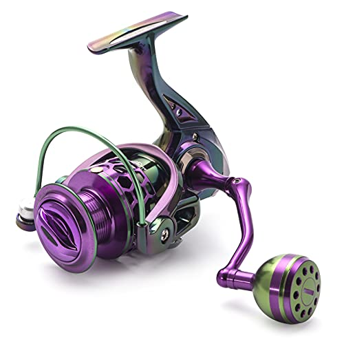 JKCKHA Carrete De Spinning - Carrete De Pesca De Carpas - Fibra De Carbono 44 LB MAX Drag - 9+1 BB Inoxidable para Agua Salada O Dulce,2000
