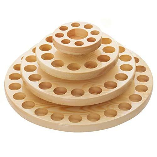 Trousses à maquillage Boîte à huile essentielle Boîte à huile essentielle de haute qualité Boîte de stockage multicouche Présentoir à table ronde Boîte à huile multi-éléments de grande capacité Trouss