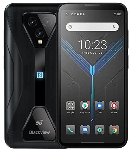 5G Jeu Smartphone Incassable Blackview BL5000, Dimensity 700 8GB+128GB, Android 11 IP68 Robuste Telephone, 6.36'' FHD+, 4980mAh, Système de Jeu Professionnel, Caméra Ultra-Large 125°, GPS NFC Noir