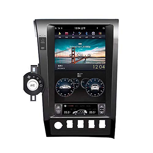 Great Deal! Suitable for Toyota Tantu 2 DIN Multimedia Player, 13.6 Inch Android9.0 System Full Touch HD Display with WiFi/Bluetooth/Real-World Navigation/Online Music and Other Functions