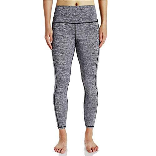 Targogo Pantalon De Yoga pour Femmes Taille Haute Fitness Ocasional Fitness Leggings Lady Men Girl Running Collants (Color : Grau, Size : L)
