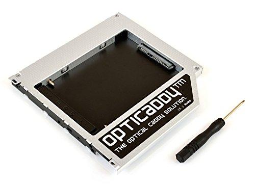 """Opticaddy SATA-3 HDD/SSD Caddy Adaptador para todos los portátiles Apple de la serie Unibody: Macbook Pro 13' 15' 17"""", Macbook 13', Macbook Alu 13' (2008, 2009, 2010, 2011, 2012) - reemplaza SuperDrive, viene con tecnología """"OptiSpeed"""" (adaptador Opticaddy originales)"""