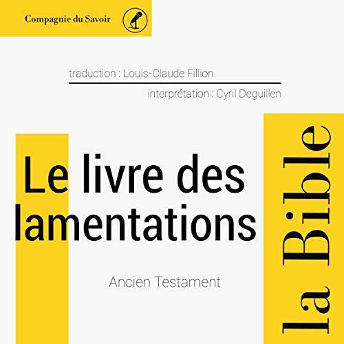 Couverture de Le livre des Lamentations