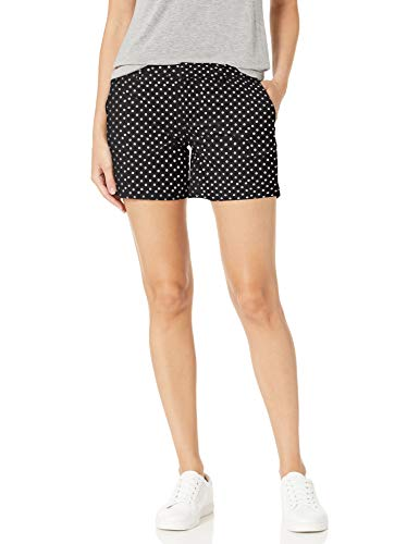 Tommy Hilfiger Women's Hollywood 5' Chino Short, Black/Ivory, 2