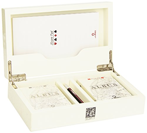 Juego- Cofanetto Carte Poker, Colore Bianco, JU00084