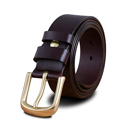 HaiDean Cinturón De Cuero Informal Con Bronce Cinturón De Hebilla Modernas Casual Del V