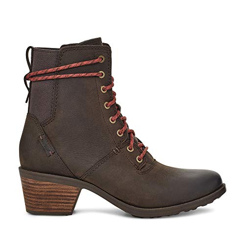 Teva Women's Anaya Lace Up WP Ankle Boot, Chocolate Brown, 7