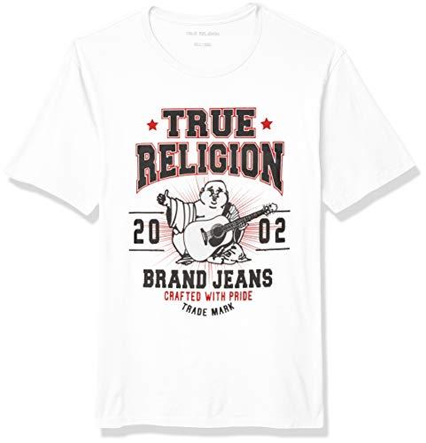 True Religion Herren Buddha Short Sleeve Crewneck Tee T-Shirt, weiß, Mittel