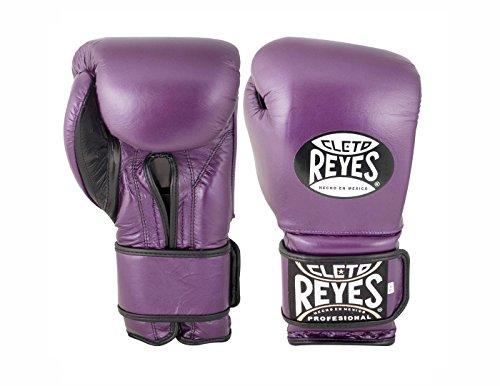 Cleto Reyes Hook and Loop Boxing Training Gloves , Purple, 14 OZ