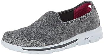 Skechers Performance Women s Go Walk Lead Memory Foam Slip-On Walking Shoe,Gray,9 M US