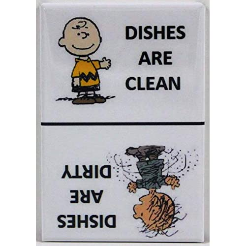 Player One Collectables Clean/Dirty Pigpen & Charlie Brown - Dishwasher Magnet. Peanuts (