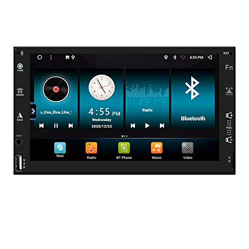 2+32 GB 7 Pulgadas Android 10 Navegación GPS Universal para automóvil Radio Bulit-in Carplay DSP WiFi Bluetooth RDS Soporte Entrada de cámara Trasera USB