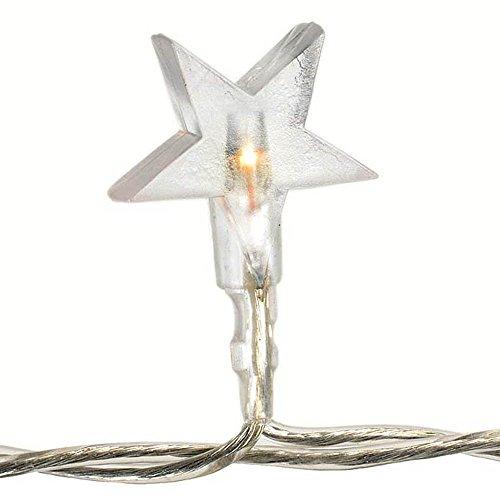 HAB & GUT -L004-W- LED- Lichterkette Stern 40 Birnchen, warmweiss 220 V, Kabellänge: 5 Meter, Indoor Dekolicht
