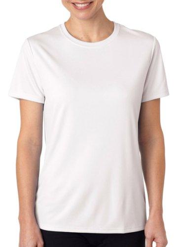 Hanes Women's Cool DRI T-Shirt 4830 White L