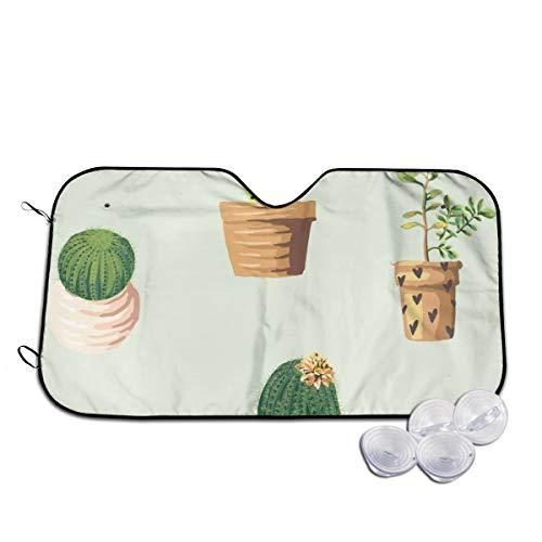 Rterss Cactus Plant Bloempot Bloem Patroon Aangepaste Voorruit Zonnekap Visor Voorruit Glas Voorkomen De Auto Van Verwarming In