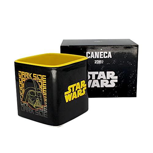 Caneca de Porcelana Chá Café Star Wars Dark Geometric 300ml