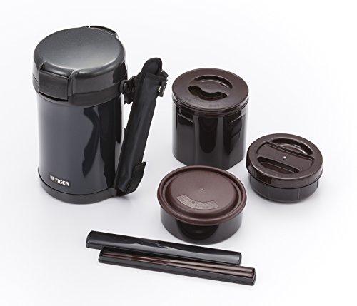 タイガー魔法瓶保温弁当箱ステンレスランチジャー茶碗約4杯分ブラックLWU-A202-KMTiger