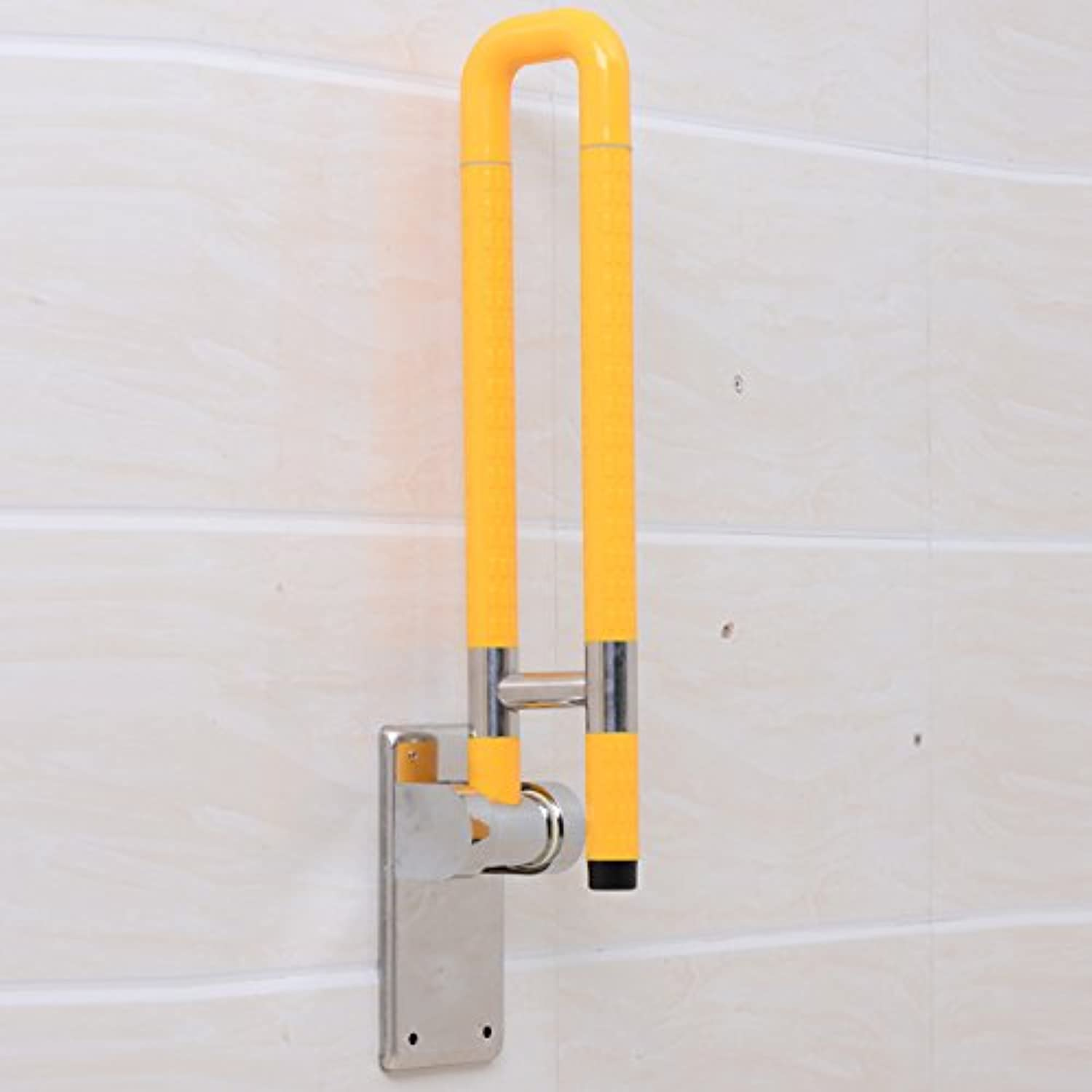 KHSKX Barrier-free handrail disabled elderly, to active antibacterial handrails , Yellow