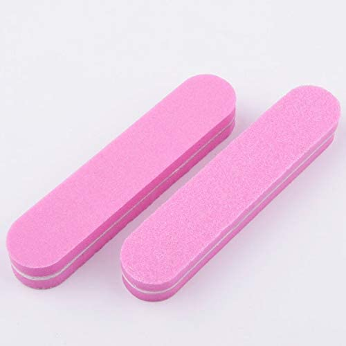 Nail Files Bufers Special Campaign 10Pcs lot Mini para Manicura File 10 Pink unisex