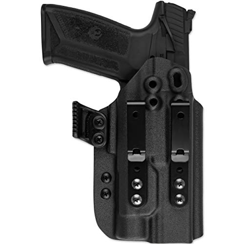 Skydas Gear JEDBURGH Kydex Inside Waistband Holster fits Ruger 57 with TLR-1 Light (Black)
