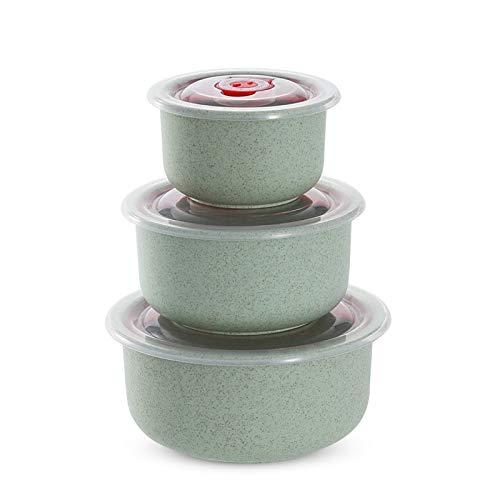 Olymajy 3 Stück food box plastic container mikrowelle schüssel mit deckel Kunststoff Schüssel mit Deckel Auslaufsichere Lunch Box mit Deckel für Home Küche, Outdoor oder im Büro