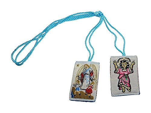 Scapular Guardian Angel and Holy Infant Escapulario Angel de la Guarda y el Divino Niño