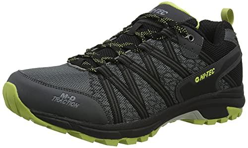 Hi-Tec Serra Trail Charcoal Uk9, Zapatos para Senderismo Hombre, Carbón Chartreuse, 43 EU