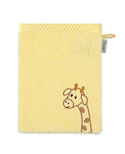 Sterntaler Gant de toilette Zoo Câlin, Girafe Greta, Taille : 21 x 15 cm, Jaune
