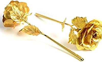 Golden Rose with Box (Standard Size)