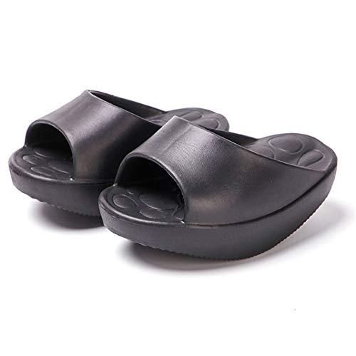 Zapatillas adelgazantes para piernas, Material de silicona, Almohadilla antideslizante, Zapatos para adelgazar Magic Weight Loss Zapatillas para piernas, Zapatos deportivos para sacudir,Negro,S
