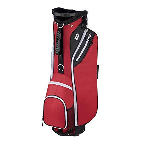 """Wilson """"W"""" Cart Golf Bag, Red"""