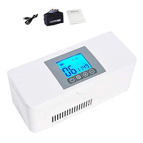 HPDOH Car Refrigerator Tragbare Mini-Insulin KüHlbox, 2-8 ° C Medizinischer KüHlschrank, Auto KüHlschrank Medikament KüHler, Geeignet FüR Reisen/Interferon/Lagerung Von Arzneimitteln