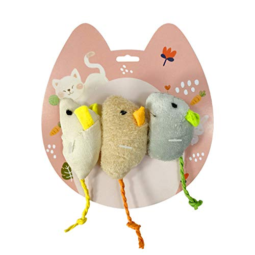 Simulation Mouse Toy, Funny Cat 3pcs Mouse Shaped Cat Toy 6cm Scratch-Resistant Plush Pet Supplies Interacting Scratching Dolls For Kitten Puppy