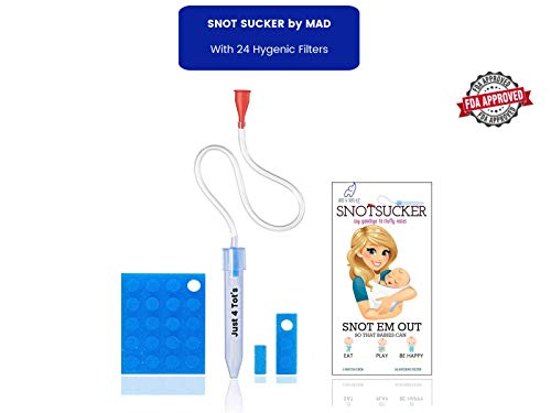 Baby Nasal Aspirator'Just 4 Tot's' The Snot Sucker with 24 Extra Filters from Just 4 Tot's by MAD | Compare us to Nose Frida