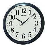 Seiko Relojes de Pared de plástico Negro, 330 mm