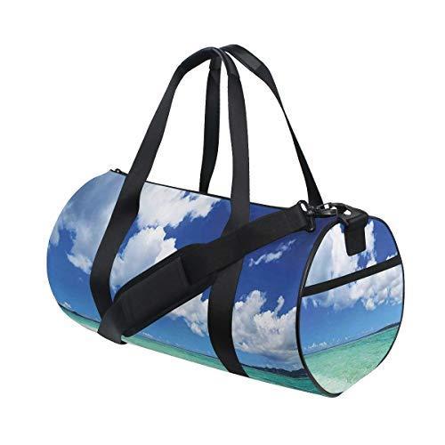 HARXISE Borsone Palestra,Art Sea Life Wavy Vivid Sand Beach Art,Borsone Viaggio Borsone A Spalla Pieghevole Leggero