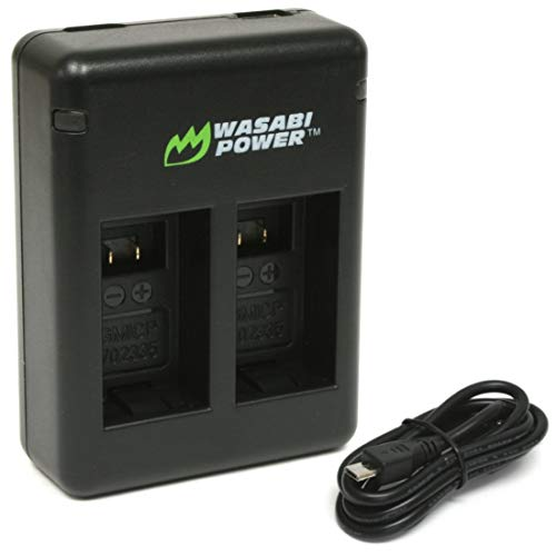 Wasabi Power Dual USB Battery Charger for Garmin VIRB 360 and Garmin 010-12521-10