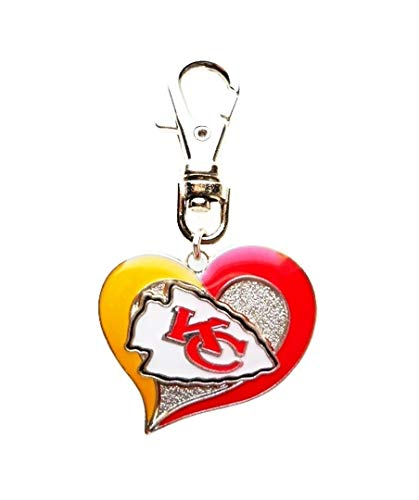 KC Kansas City Chiefs Team Football Charm ADD to Zipper Pull Purse Wallet Backpack OR PET Dog CAT Collar Charm Harness Leash ETC