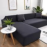 WXQY Funda de sofá elástica de Color sólido para Sala de Estar...